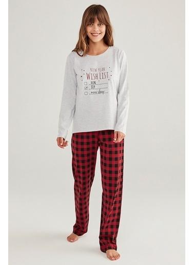 Penti Family Red Gingham Pijama Takımı Renkli